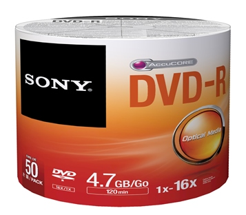 DVD-R SONY 4.7GB 50ks cake 16x BULK