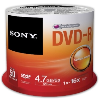 SONY DVD-R 4.7GB 16x, 50ks