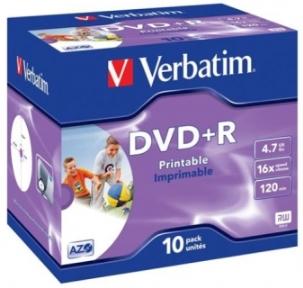 VERBATIM DVD+R printable 4,7GB 16x, 10ks (43508)