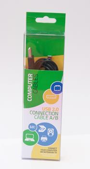 propojovací kabel USB 2.0 A-B 3m černý