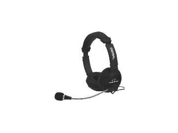 Stereo sluchátka Esperanza EH104 ADAGIO s mikrofonem, ovl. hlasitosti, černá