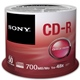 SONY CD-R 700MB 48x, 50ks (50CDQ80NSP)