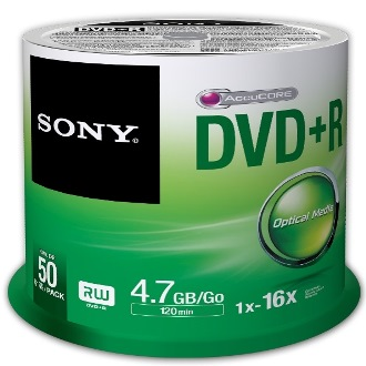 SONY DVD+R 4.7GB 16x, 50ks